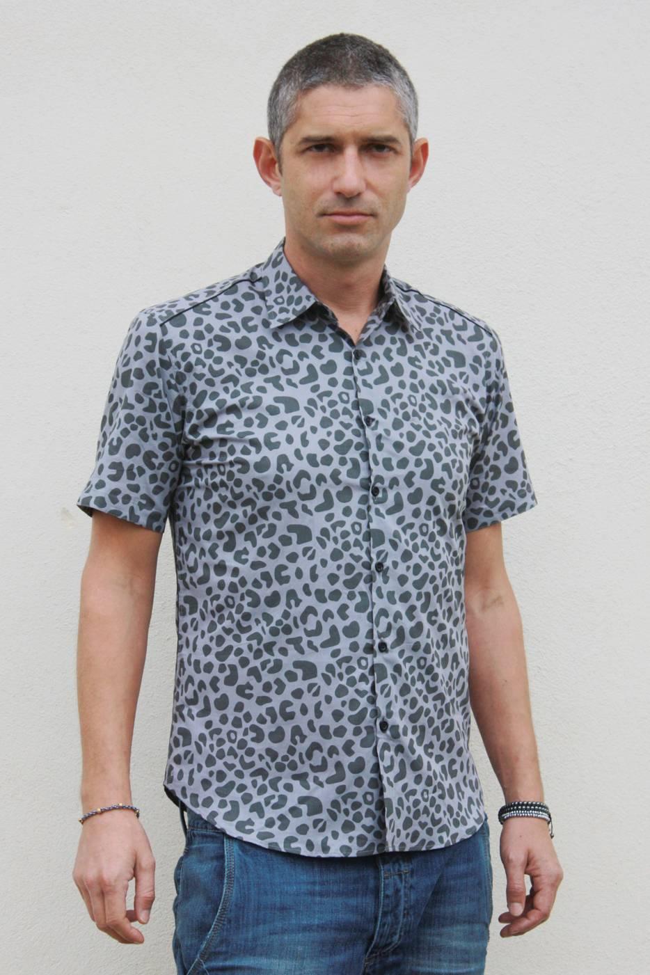 Saint Lau Leopard Print Shirt Men Clothing Yves Pumps Officially Authorized