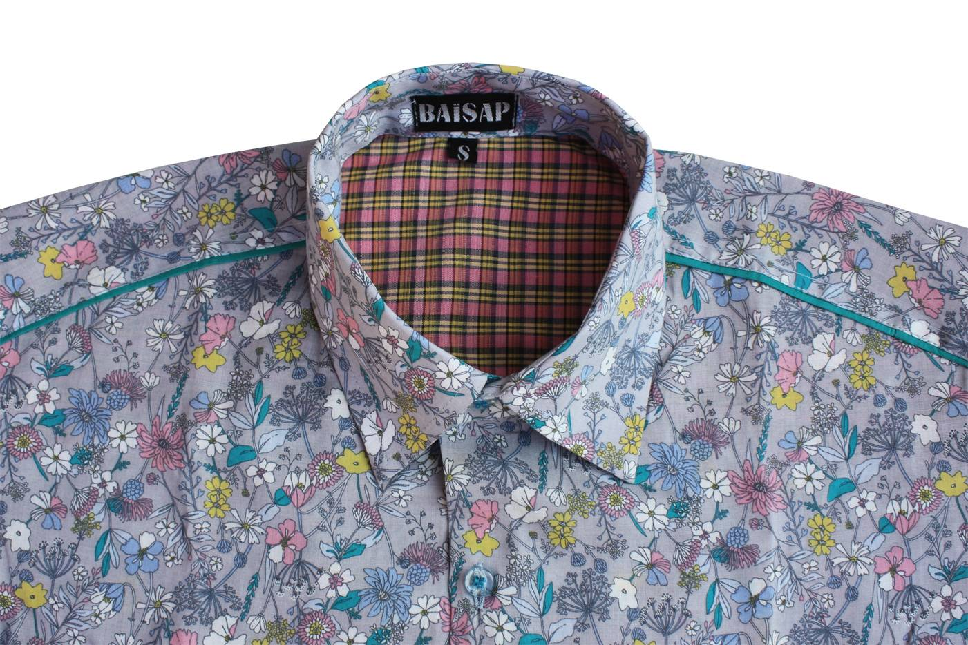 Camisa Flores Mangas Baisap Corta Eqrwpn8gn Campo nwv8mN0