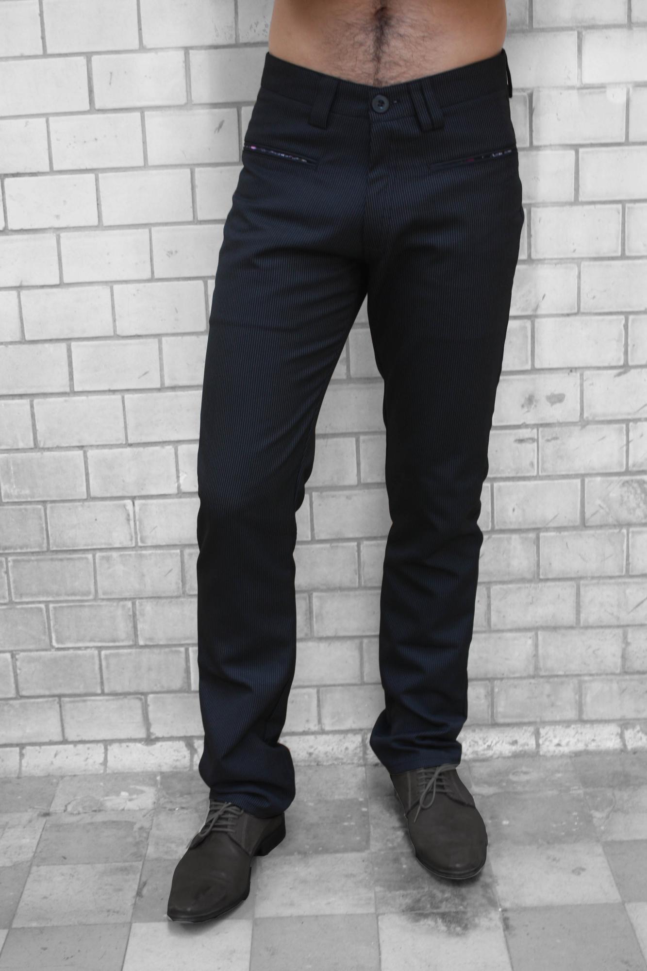 bfb71a11f9c12f Baïsap - Anzughose schwarz - Nadelstreifen - Straight leg hose mit feinen  Streifen Teilen