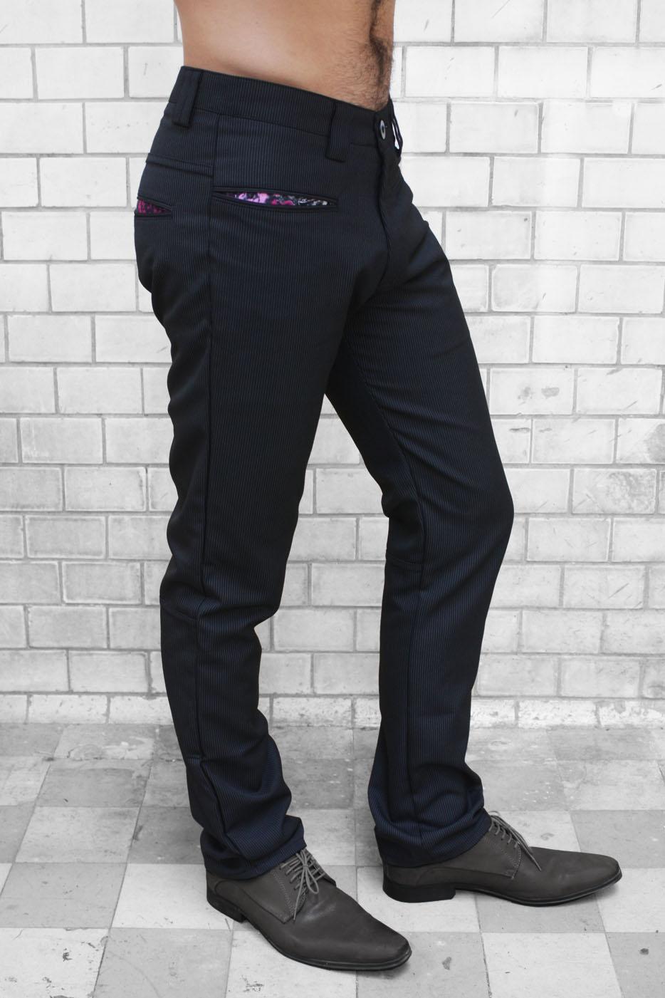 Pantalon De Vestir Negro Raya Diplomática