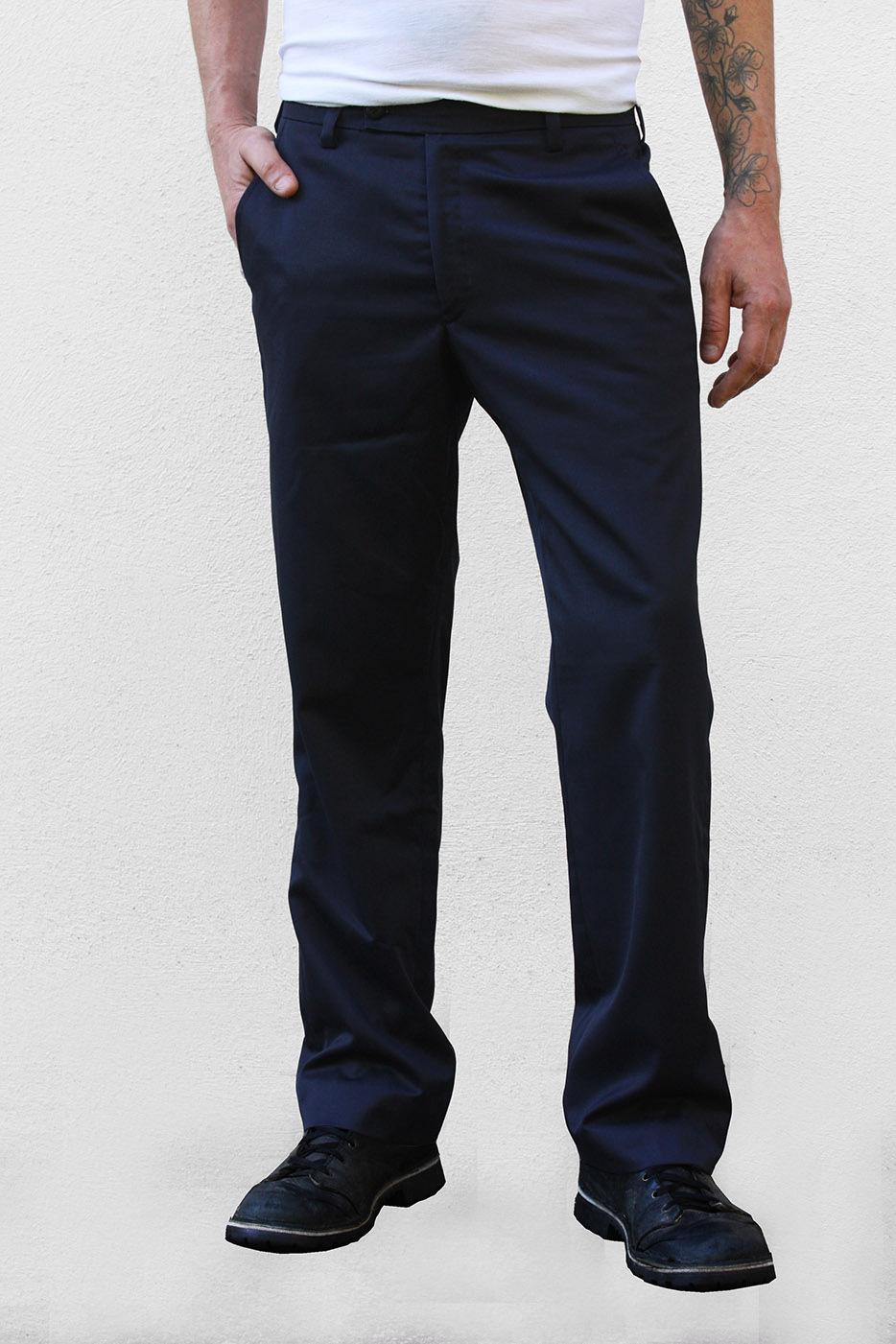 b32b1ed00564 Baïsap - Pantalon bleu marine casual - Tea Time - Pantalon de costume,  fluide, ...